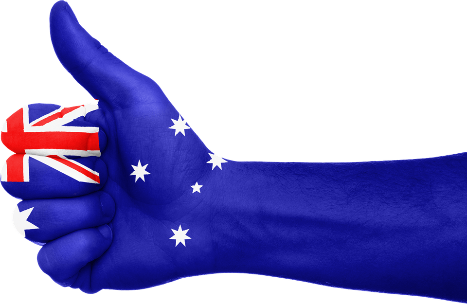 Thumbs sign fro Australia PR visa