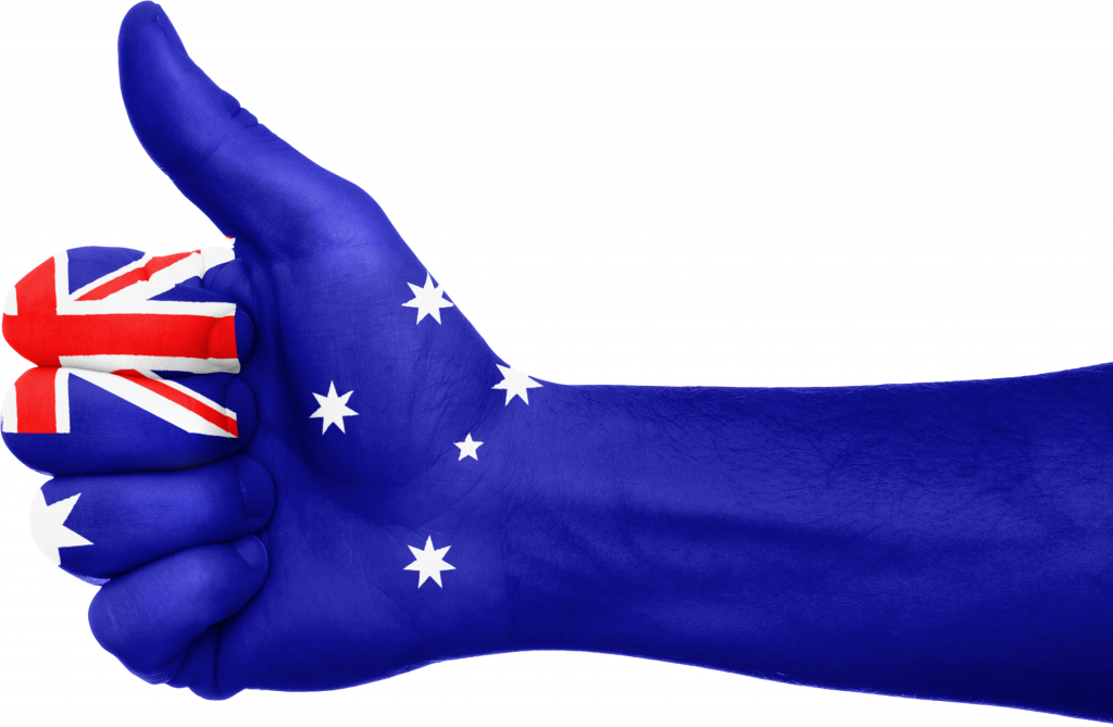 Australia flag with details of its occupation demand list